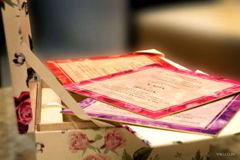 Photo of floral wedding card box