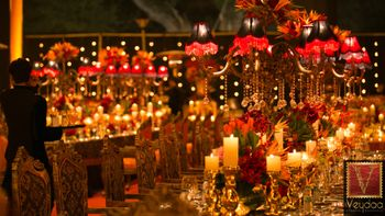 Photo of royal table setting wedding decor