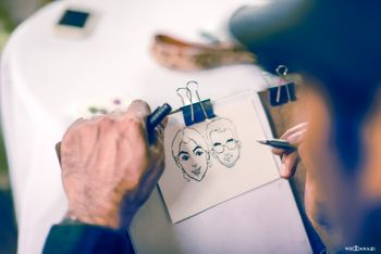 Caricature Artist Stall at Mehendi