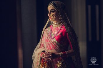 Timeless bridal portrait with large oversized nath