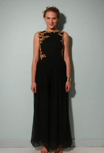 Ridhi Mehra black indo western gown