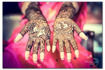 Mehendi with Bride and Groom Portraits