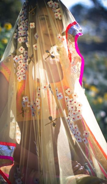 Photo of dupatta with applique work