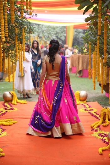 Photo of pink gota lehenga