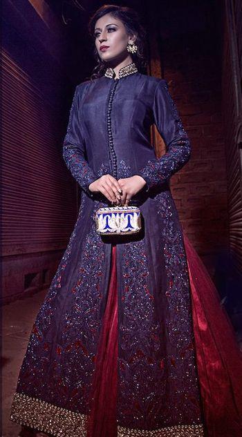 Photo of jacket lehenga