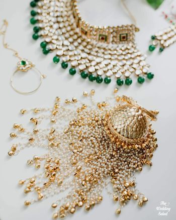 bridal jewellery photography with gold kaleere