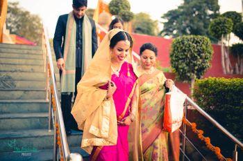 hot pink sari