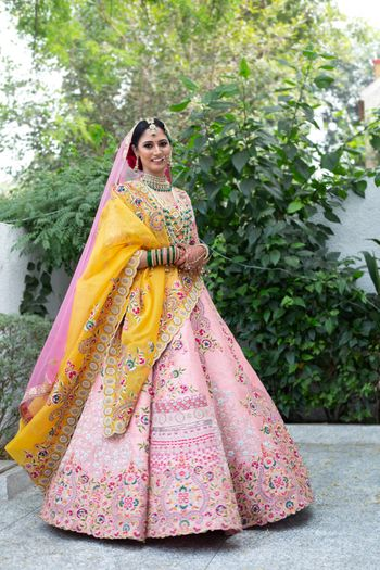 Offbeat hued bridal lehenga