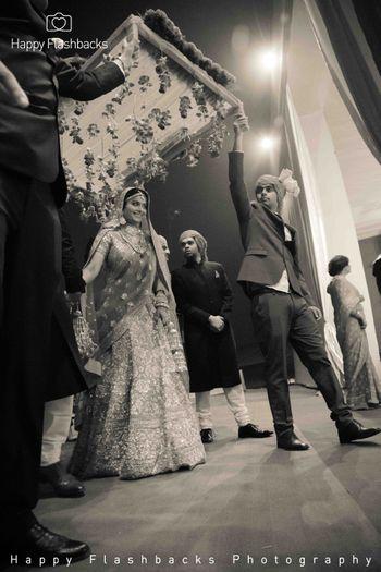 bridal entrance shot