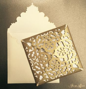 Photo of gold laser cut