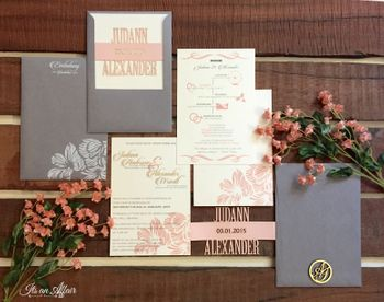 Photo of modern wedding cards