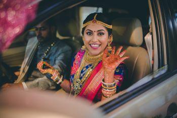 Happy bride shot!