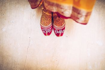 Customised juttis for bride