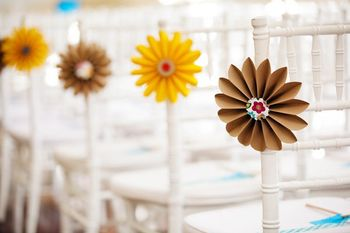 Paper Flowers for Every Chair