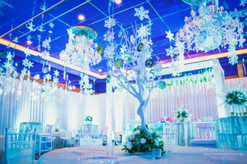 Beautiful white and blue themed decor