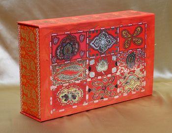 Red wedding invite box