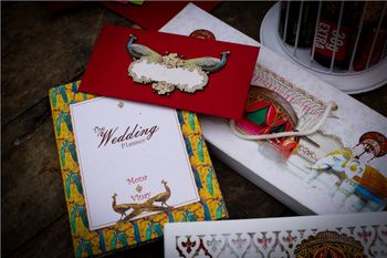 Modern wedding invitation card