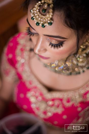 Beautiful shimmer eye makeup for the wedding day