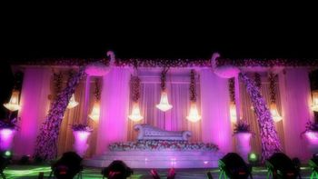 all white stage decor