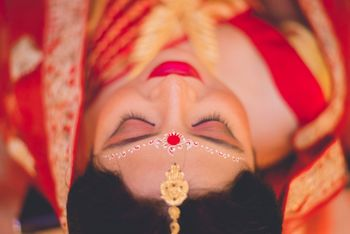 Bengali bride top shot