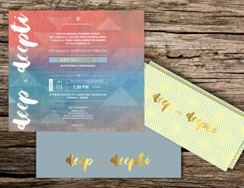 Photo of Modern wedding invitation cards