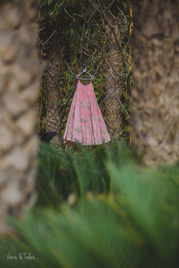 Pink Hanging lehenga shot