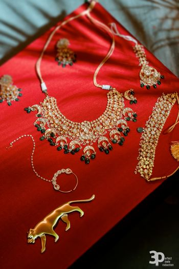 Bridal lehenga box and jewellery shot