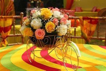 Cute floral table centerpiece