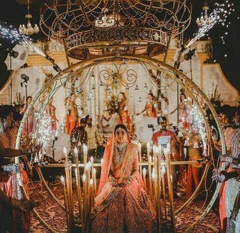 Grand wedding bridal entry idea