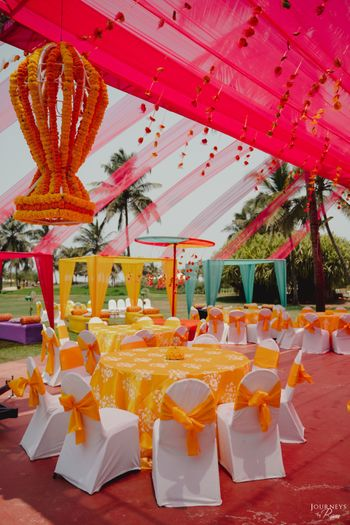 Photo of Outdoor seating for Mehendi