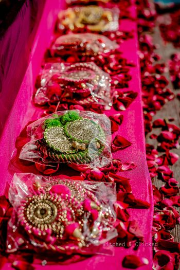 gota jewellery as mehendi favours