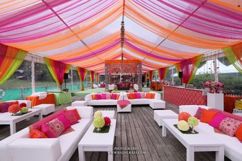 Pink and Orange Canopy Tent