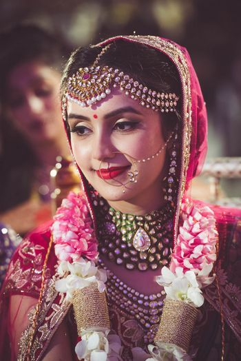 Maang Tikka on Indian bride