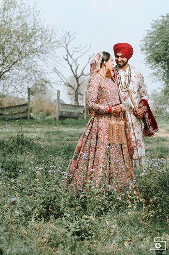 A Sikh couple portrait.