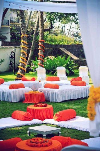 white and orange theme