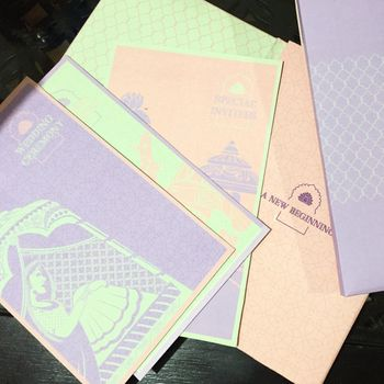 Photo of pastel cards