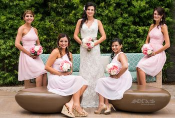 Christian bride with bridesmaids shot!