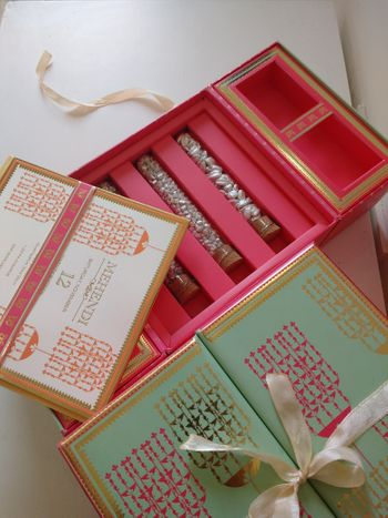 Wedding box and card with kaleera design