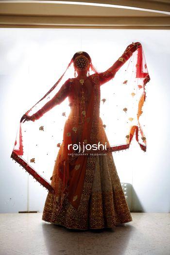 Beautiful bridal back shot
