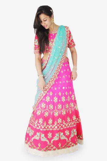 Photo of lehenga with short blouse