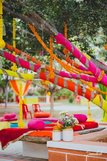 Colorful and fun mehendi deecor