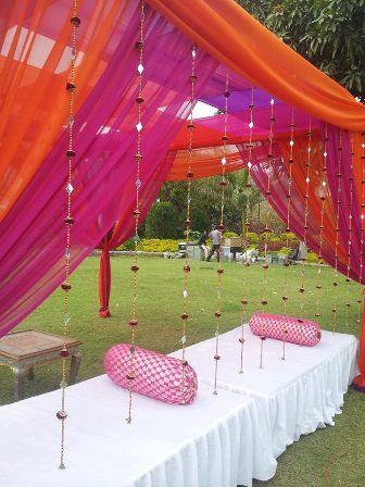 Photo of pink and orange drapes