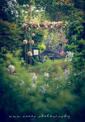 Fairytale wedding floral entrance decor