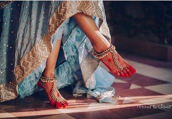 Unique bridal feet jewellery pajeb