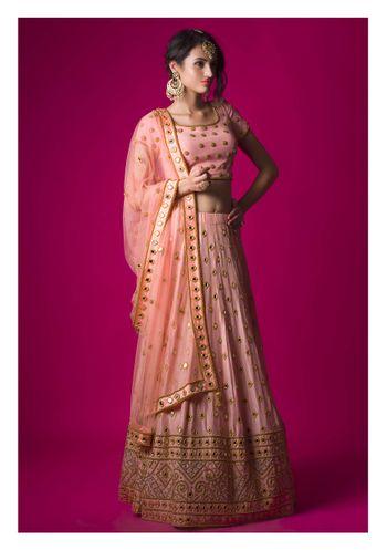 shades pf pink lehenga