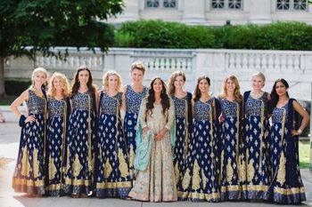 coordinated bridesmaid outfits