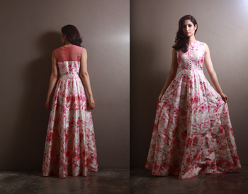 Photo of floral print gown
