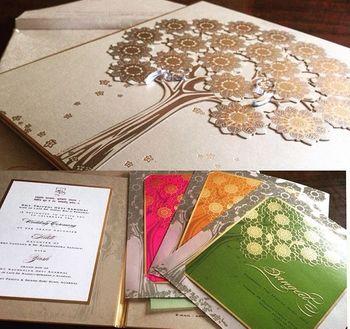Photo of tree of life wedding cards