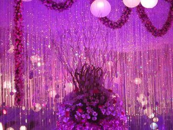 Shimmery decor lavender lighting