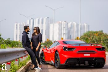 Luxury car themed urban pre wedding shoot